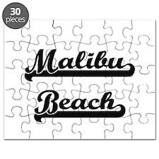 Malibu Beach Classic Retro Design Puzzle