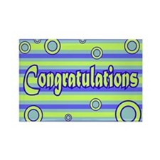 Congratulations Rectangle Magnet (100 pack)