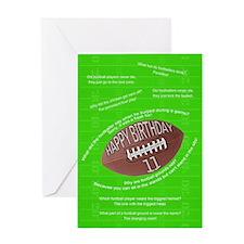11th birthday, awful football jokes Greeting Cards