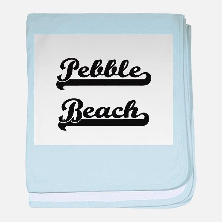 Pebble Beach Classic Retro Design baby blanket