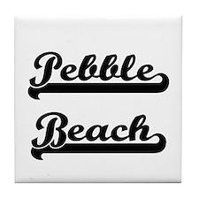 Pebble Beach Classic Retro Design Tile Coaster