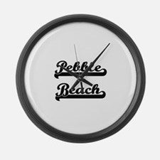 Pebble Beach Classic Retro Design Large Wall Clock