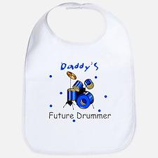 Daddy's Future Drummer Baby Bib