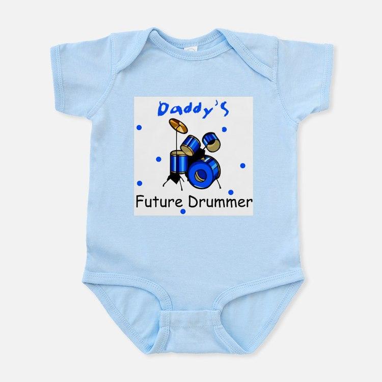 Daddy's Future Drummer Infant Bodysuit