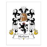 Herbert Family Crest Small Poster