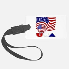 USA Flag and Soccer Ball Luggage Tag