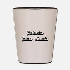 Refugio State Beach Classic Retro Desig Shot Glass