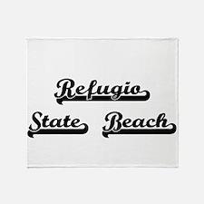 Refugio State Beach Classic Retro De Throw Blanket