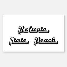 Refugio State Beach Classic Retro Design Decal