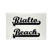 Rialto Beach Classic Retro Design Magnets