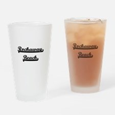 Rockaway Beach Classic Retro Design Drinking Glass