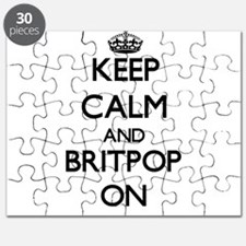 Keep Calm and Britpop ON Puzzle