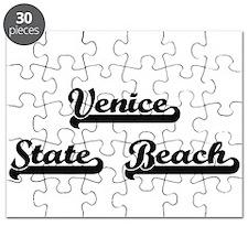 Venice State Beach Classic Retro Design Puzzle