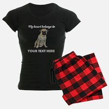 Personalized Pug Dog Pajamas