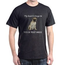 Personalized Pug Dog T-Shirt