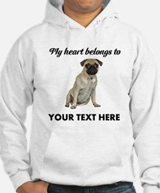 Personalized Pug Dog Hoodie