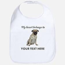 Personalized Pug Dog Bib