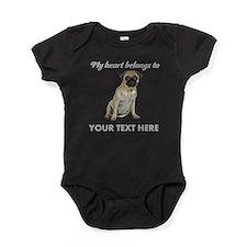 Personalized Pug Dog Baby Bodysuit