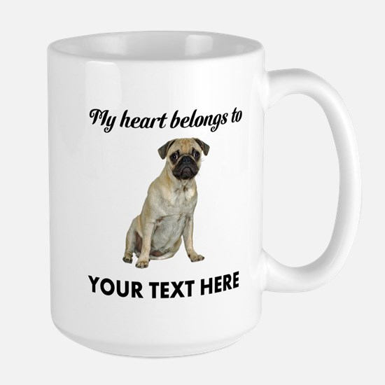 Personalized Pug Dog Large Mug