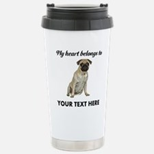 Personalized Pug Dog Stainless Steel Travel Mug