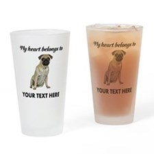 Personalized Pug Dog Drinking Glass