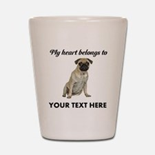 Personalized Pug Dog Shot Glass