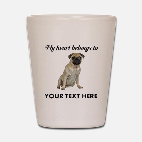 Personalized Pug Dog Shot Glass
