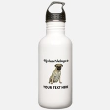 Personalized Pug Dog Water Bottle