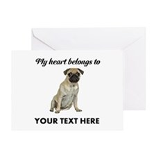Personalized Pug Dog Greeting Card