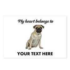 Personalized Pug Dog Postcards (Package of 8)