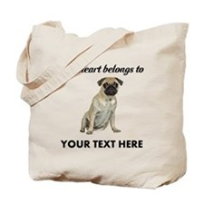 Personalized Pug Dog Tote Bag