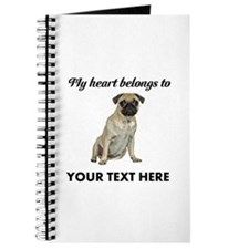 Personalized Pug Dog Journal