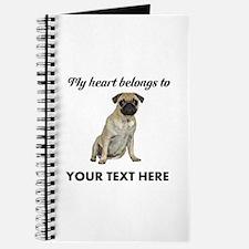 Personalized Pug Dog Journal