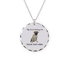 Personalized Pug Dog Necklace