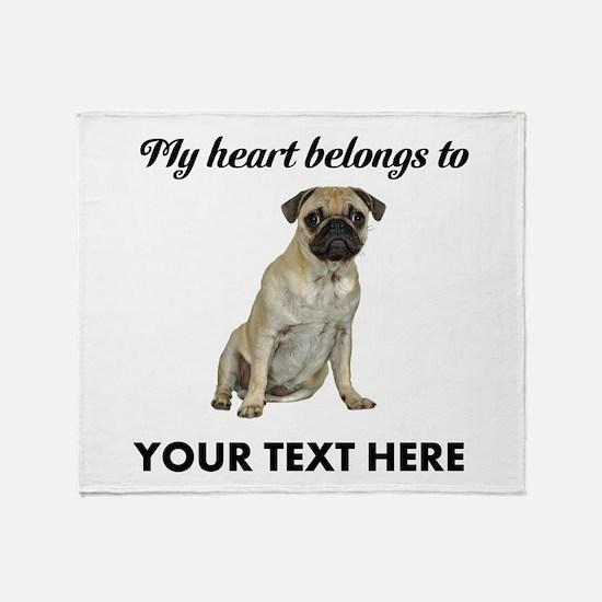 Personalized Pug Dog Throw Blanket