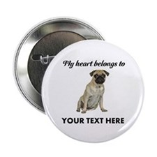 Personalized Pug Dog 2.25