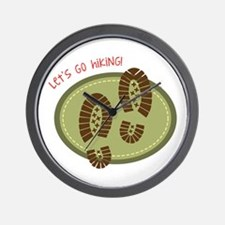 Let's Go Hiking! Wall Clock