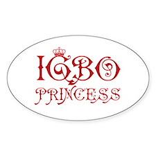 Igbo Princess Oval Decal
