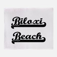 Biloxi Beach Classic Retro Design Throw Blanket