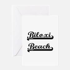 Biloxi Beach Classic Retro Design Greeting Cards