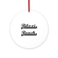 Biloxi Beach Classic Retro Design Ornament (Round)