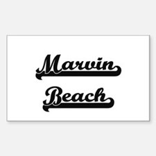 Marvin Beach Classic Retro Design Decal