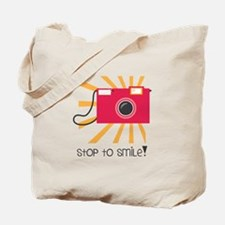 stop to smile Tote Bag