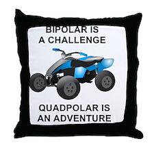 Bipolar Quad Throw Pillow