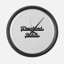 Waveland Beach Classic Retro Desi Large Wall Clock