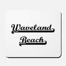 Waveland Beach Classic Retro Design Mousepad