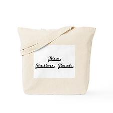 Blue Shutters Beach Classic Retro Design Tote Bag