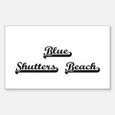 Blue Shutters Beach Classic Retro Design Decal