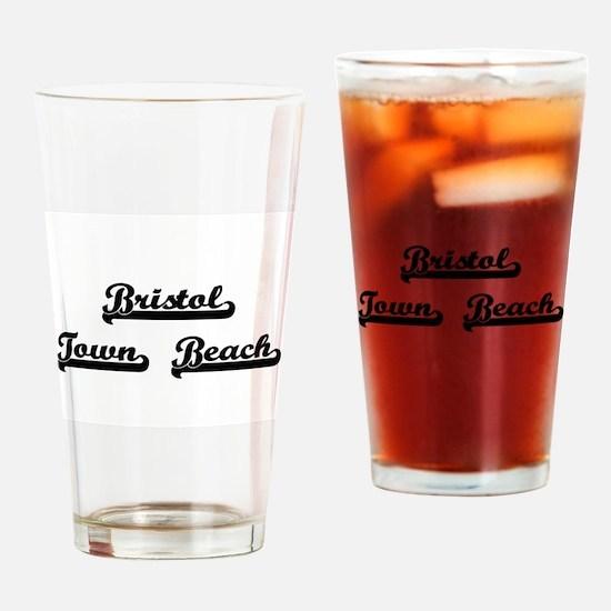 Bristol Town Beach Classic Retro De Drinking Glass