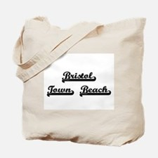 Bristol Town Beach Classic Retro Design Tote Bag